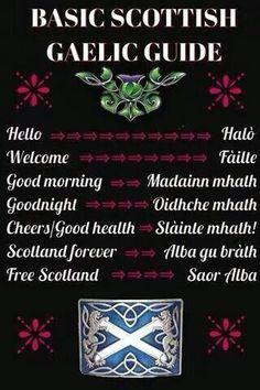 Scottish Gaelic mini-dictionary (via 'My heart will always be in Scotland)