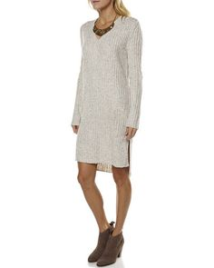 Rustic Womens Dress in Oatmeal Marle By Wite - Surf Stitch