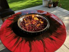 Wine Barrel Fire Pit Table Hand Made in San Diego, CA