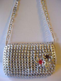 Crochet pop top purse, I want!