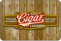Personalized Cigar Band Sign #3