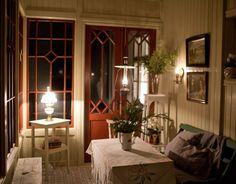 punschveranda 036A9942 Glass Panel Wall, Porches, Swedish Farmhouse, Porch Veranda, Big Houses, Scandinavian Interior, Interior Inspiration, My House, Home Furniture
