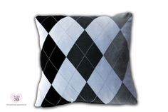 "18"" Square Knitted Sweater Gray Argyle diamond Design Pillow Cover,  #Dressbarn"
