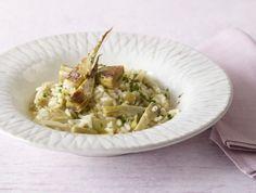 Artischocken-Risotto: Dieses Risotto ist wunderbar aromatisch und herrlich cremig, mit Artischockenherzen und Petersilie.