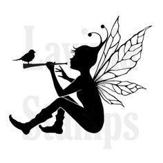 Fairy Stamp, Sky, Lavinia Stamps, Acrylic Stamp by InkArtDesigns on Etsy Silhouette Dragon, Vogel Silhouette, Fairy Silhouette, Disney Silhouette Art, Silhouette Painting, Fairy Templates, Tampons Transparents, Resin Uses, Fairy Jars