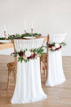 Wedding Chair Decorations, Engagement Party Decorations, Wedding Table Settings, Wedding Chairs, Wedding Table Layouts, Round Wedding Tables, Wedding Reception Backdrop, Fall Wedding, Diy Wedding