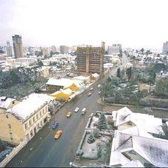 Curitiba enfeitada pela neve de 1975 ~ Propaganda de Bolsa