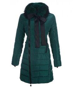 Moncler S Mayuko Donne Cappotto caldo di vendita verde