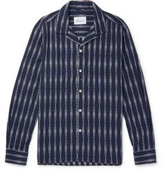 574d0bd925899 Albam - Camp-Collar Cotton-Jacquard Shirt Casual Shirts For Men, Men Casual