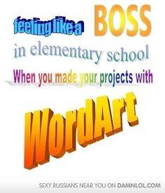 word art, like a boss!