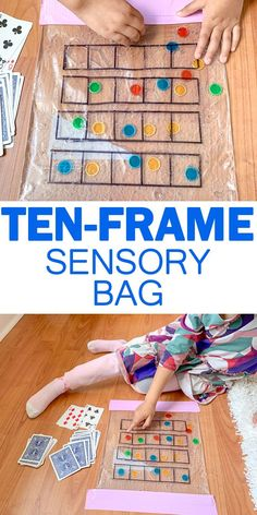 Ten-Frame Sensory Bag Ten-Frames are a great tool for understanding numbers for preschoolers and kindergartners. Check out this easy to make Ten-Frame Sensory Bag! Ten Frame Activities, Fun Math Activities, Math Games, Preschool Activities, Maths, Math Multiplication, Math Math, Indoor Activities, Summer Activities