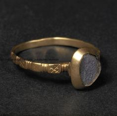 Gold ring late medieval, ca 1349, Europe.