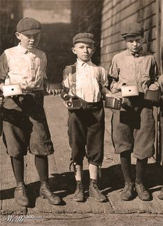 1930s boys - Google Search The caps, overalls, boots and shorts make these boys look tougher.