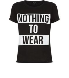 Teens Black Nothing To Wear T-Shirt