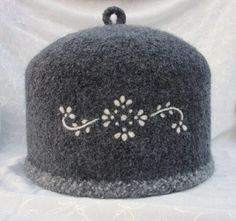 Wool Felted Teapot Cozy Embellished with an Elegantly by Susietoos, $82.00