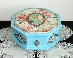 Hand Decorated Shabby chic Jewelry box by JoliefleurDeco on Etsy