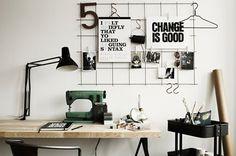 DIY prikbord van gaas - inrichting-huis.com   Inspiratie voor de inrichting van je huis