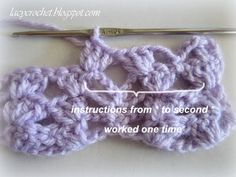 Lacy Crochet: Lacy Baby Blanket Tutorial, Step 3