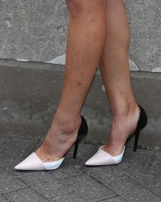 2014 U.S. Women's Open champion Michelle Wie (shoe detail) celebrates her victory at The Empire State Building on June 24, 2014 in New York City