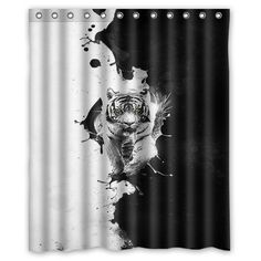 24 Best Black White Shower Curtains Images On Pinterest
