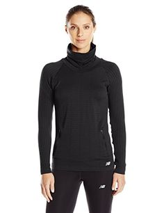 New Balance Womens M4M Seamless Cable Pullover Black Large -- Continue to the product at the image link.Note:It is affiliate link to Amazon.