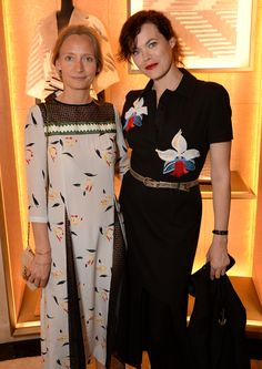 Martha Ward and Jasmine Guinness at the 1 Year Anniversary Party of the Fendi New Bond Street Boutique