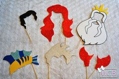 Little Mermaid Inspired Photo Booth Props Ariel by WCBCraftStudio