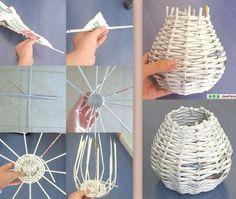 #DIY #decoration #recup Faire un petit panier pour 0 euros, en utilisant de simples journaux