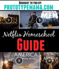 Our Netflix Homeschool guide- packed full of history, science and math related shows to help supplement your child's curriculum.: