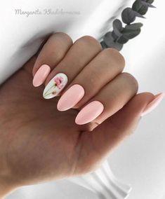 Image about pink in Nails / Nail Polish / Vernis / Manicure by Mouna DramaQueen Spring Nail Art, Nail Designs Spring, Cute Nail Designs, Cute Spring Nails, Gel Nail Art Designs, Spring Design, Cute Acrylic Nails, Cute Nails, My Nails