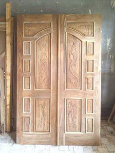 Wooden Double Doors, Wooden Front Door Design, Wooden Front Doors, Room Door Design, Door Design Interior, Bed Furniture, Furniture Design, Best Door Designs, Center Table Living Room