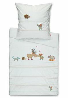 Elchspaziergang - Biancheria da letto - bianco Baby Bedding, Kids, Furniture, Home Decor, Young Children, Boys, Decoration Home, Room Decor, Home Furnishings