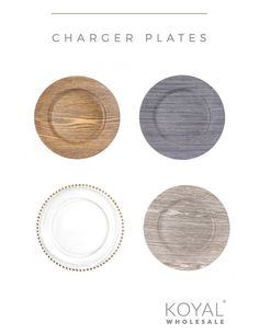 Spectacular Wedding Charger Plates - Wholesale charger plates for any wedding theme or event design - rustic, contemporary, couture, classic, vintage - you name it they have it!  They have 1000s of other discount wedding supplies too.   Madison - keep this site handy for our weddings and special events.