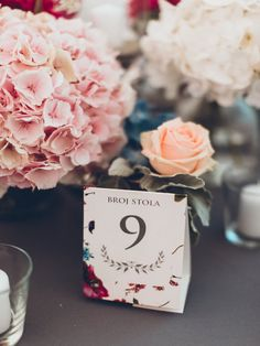 Floral table number
