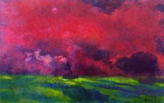 bofransson:  Green Sea under Reddish-brown Sky (also known as Two Steamers) Emile Nolde