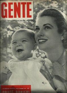 GENTE - 15.1.1958 CAROLINE DE MONACO ET GRACE KELLY