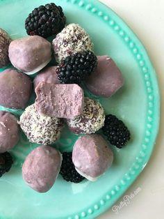 Low Carb Blackberry Cake Balls - keto, vegan, paleo   Pretty Pies