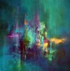 """Let It Rain"" Acrylic on deep edge canvas,60x60 cm By Jaanika Talts"