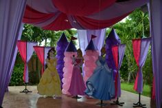 """Photo 1 of 34: Pink and Purple Princess party / Birthday """"Sophia's fairytale princess First Birthday Party""""   Catch My Party"""