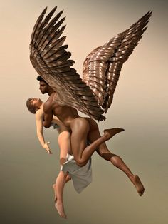 Zeus & Ganymede (The abduction of Ganymede by Aniwayalone)