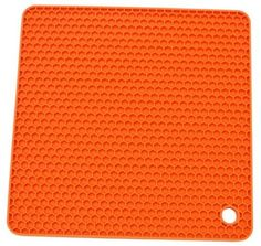 AllforhomeTM Orange Square Honeycomb Silicone Heat resistant Coasters Tableware Insulation Pad Potholders Insulation Mat >>> Check out this great product.
