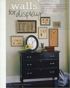 I found this blog while looking for DIY jewelry display ideas. I love the collage of frames above the dresser! http://circlegdesigns.wordpress.com/2011/01/17/jewelry-displays/
