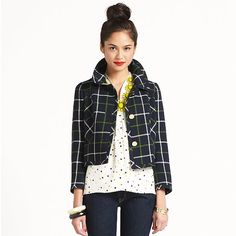 plaid short jacket link to mckimseus gamin