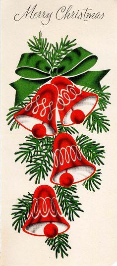 Vintage Stuff and Antique Designs Vintage Christmas Images, Retro Christmas, Christmas Bells, Vintage Holiday, Christmas Pictures, Christmas Art, Christmas Greetings, Christmas Decorations, Decoupage