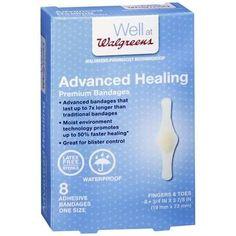 Walgreens Advanced Healing Premium Adhesive Bandages Fingers & Toes - 8 ea