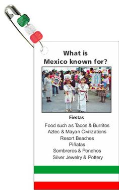 Mexico Trading Card Swaps from MakingFriends.com. Perfect for your Thinking Day event!