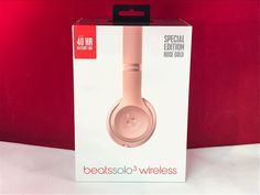 Beats by Dr. Dre Solo3 Wireless Headband Headphones - Rose Gold (100% Authentic) in Consumer Electronics, Portable Audio & Headphones, Headphones | eBay