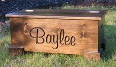 Personalized Large Wooden Chest/toy Chest/memory Box/hope Chest