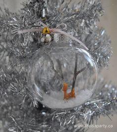 Deer Snow Globe Christmas Ornament