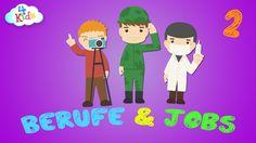Berufe und Jobs Bezeichnungen lernen für Kinder und Kleinkinder Teil2 (d...